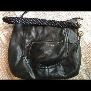 The Sak Black Leather hobo bag
